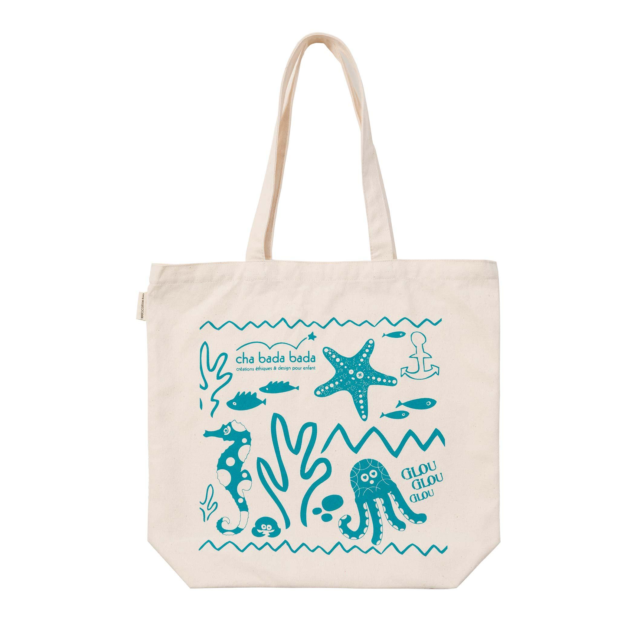 sac shopping en coton biologique ocean