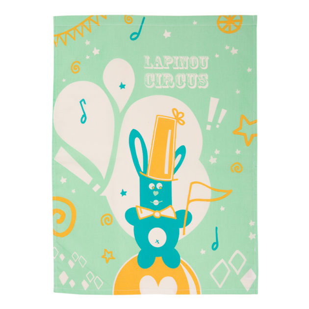 serviette de table lapinou circus