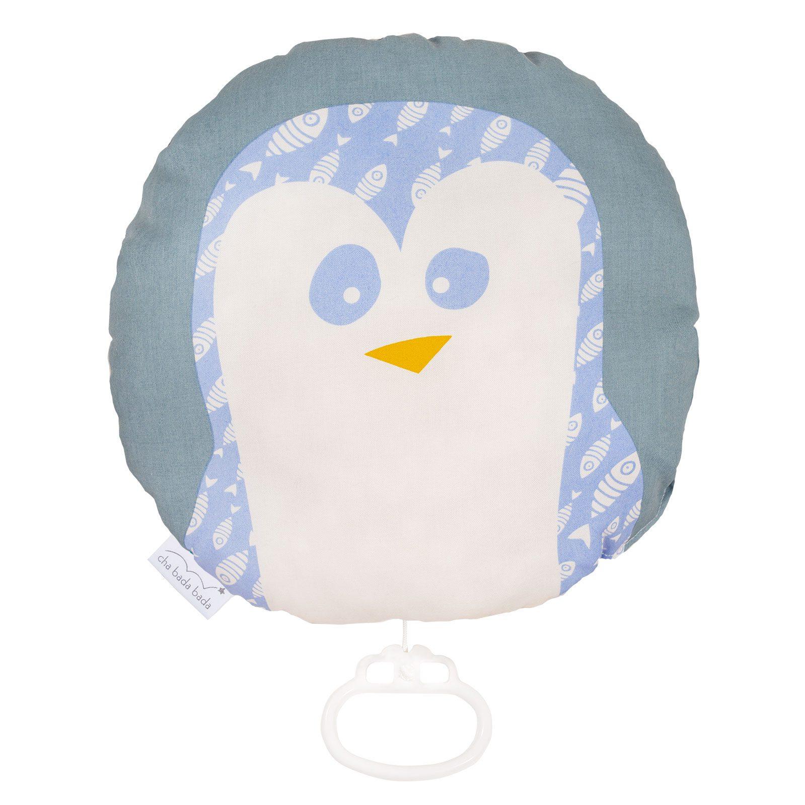 boite à musique coton bio pingouin chabadabada