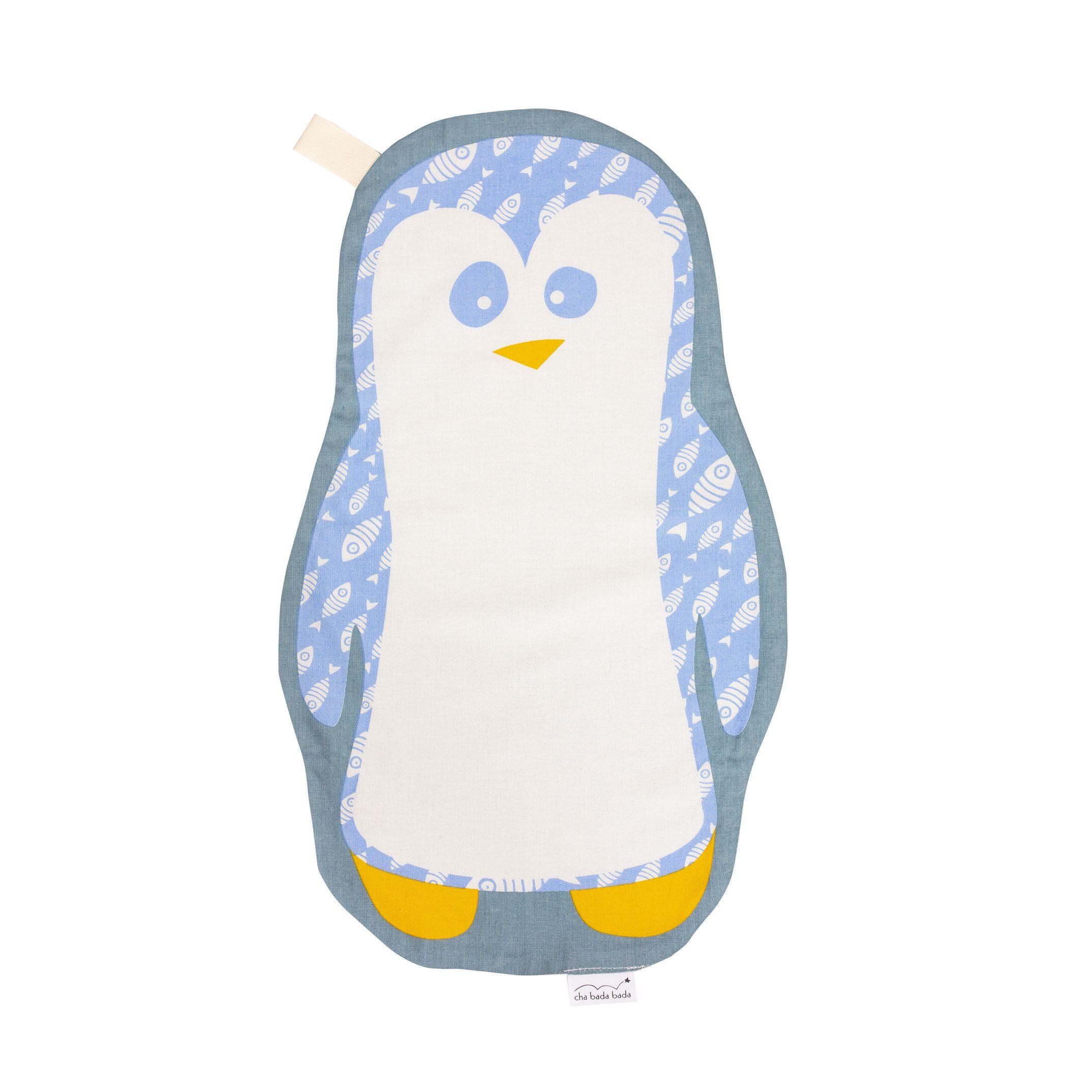 doudou plat en coton bio kurt le pingouin