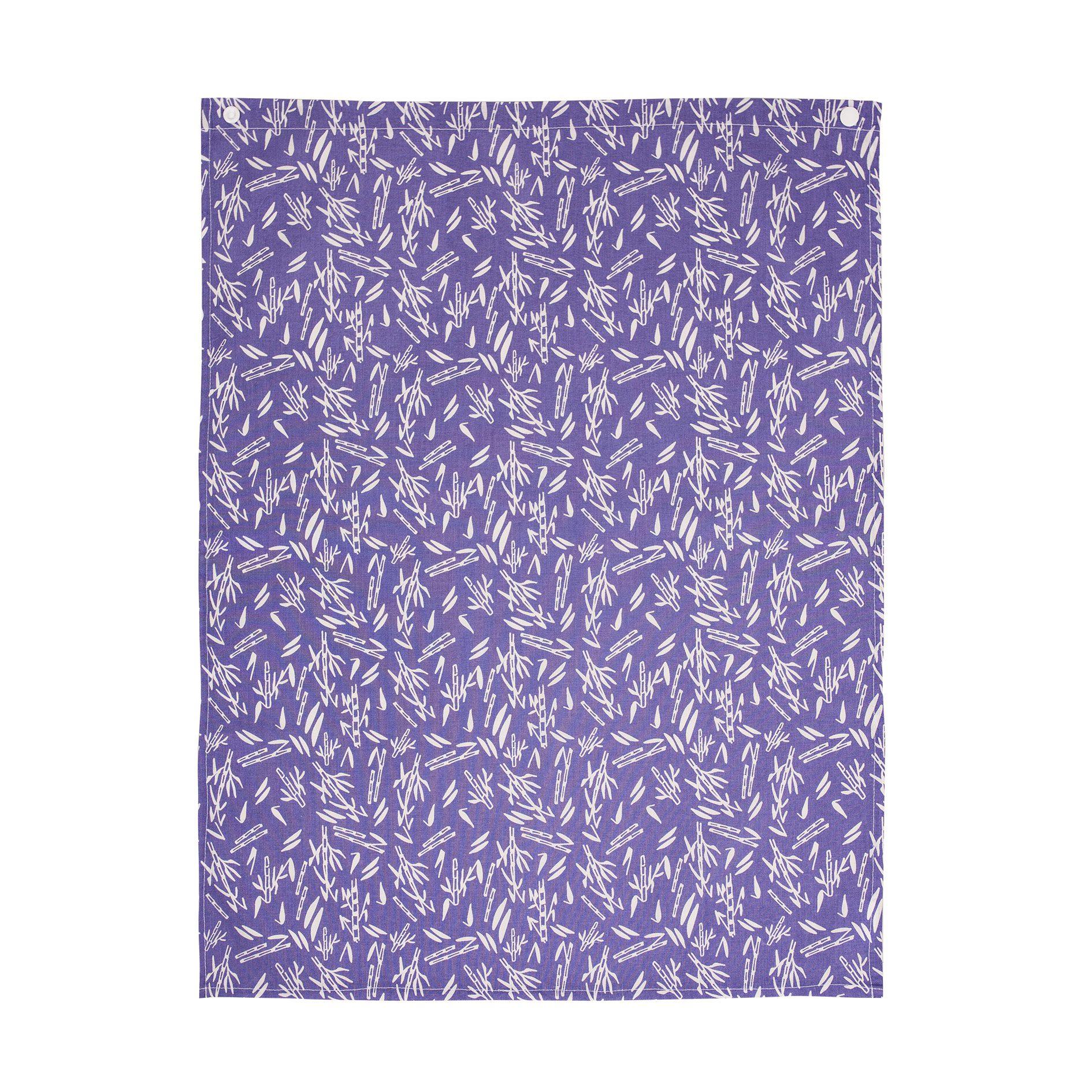 serviette de table en coton biologique motif bambou chabadabada